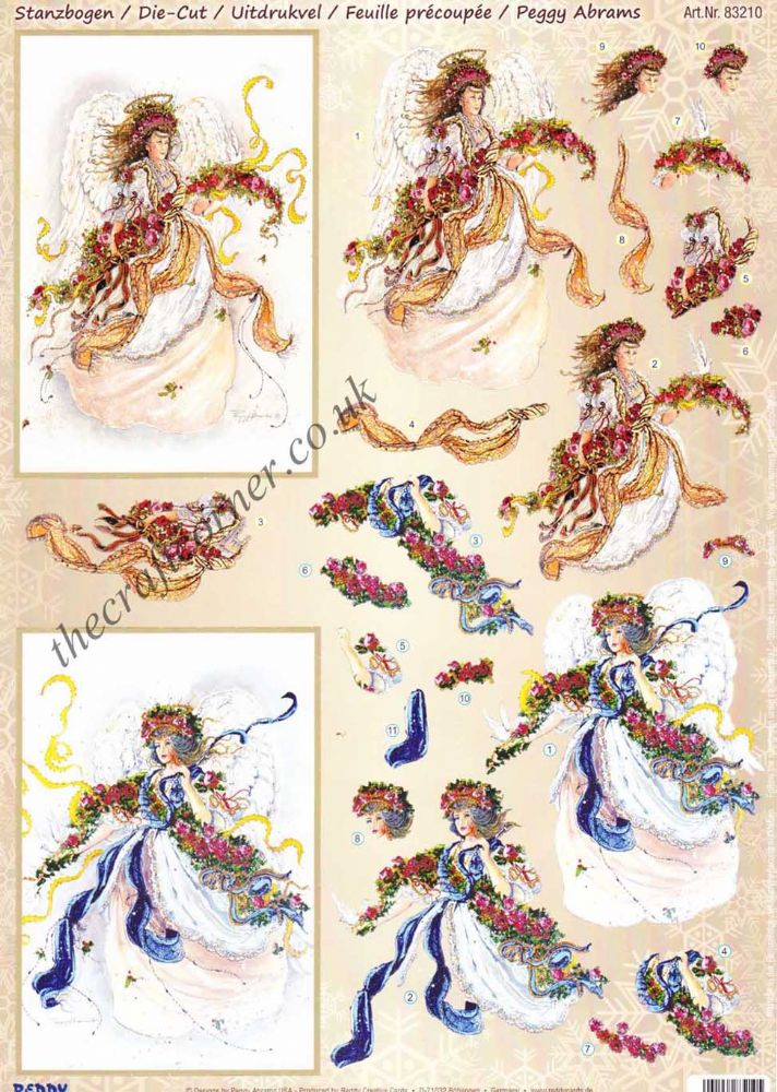 Angel Of Faith Die Cut 3d Decoupage Sheet From Reddy